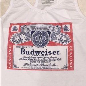 White top Budweiser size XS